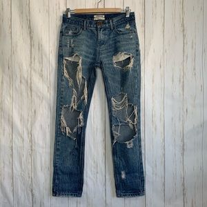 One Teaspoon Jeans Awesome Baggies Torn Destroyed
